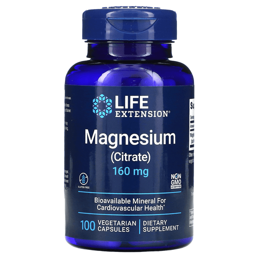 Life Extension Vitamins, Minerals, Herbs & More Life Extension Magnesium Citrate 160mg 100 Caps