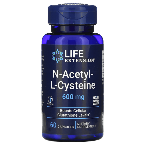 Life Extension Sports Nutrition & More Life Extension N-Acetyl Cysteine 600 mg 60 Caps