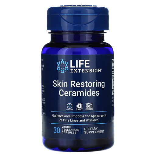 Life Extension Vitamins, Minerals, Herbs & More Life Extension Skin Restoring 350mg Phytoceramides with Lipowheat 30 Caps
