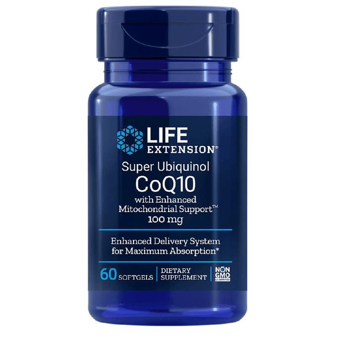 Life Extension Vitamins, Minerals, Herbs & More Life Extension Super Ubiquinol CoQ10 with Enhanced Mitochondrial Support 100mg 60 Softgels