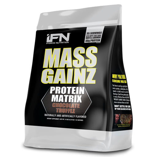 IFORCE Sports Nutrition & More Chocolate Truffle IFORCE Mass Gainz 10 Lbs (581950242860)