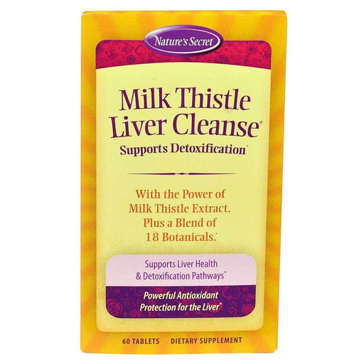 Nature's Secret Vitamins, Minerals, Herbs & More Nature's Secret Milk Thistle Liver Cleanse 60 Tabs (581101617196)
