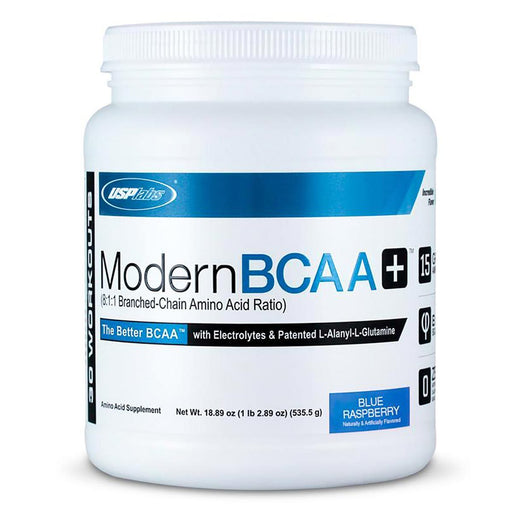 USPLABS Sports Nutrition & More Blue Raspberry USPLABS Modern BCAA+ 30 Servings (581639045164)