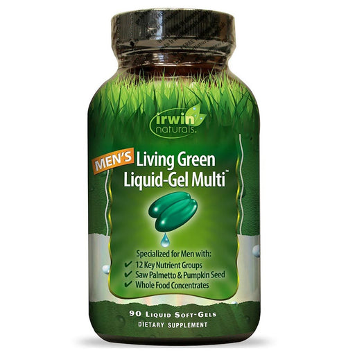 Irwin Naturals Vitamins, Minerals, Herbs & More Irwin Naturals Men's Living Green Liquid-Gel Multi 90 Gels (581186388012)