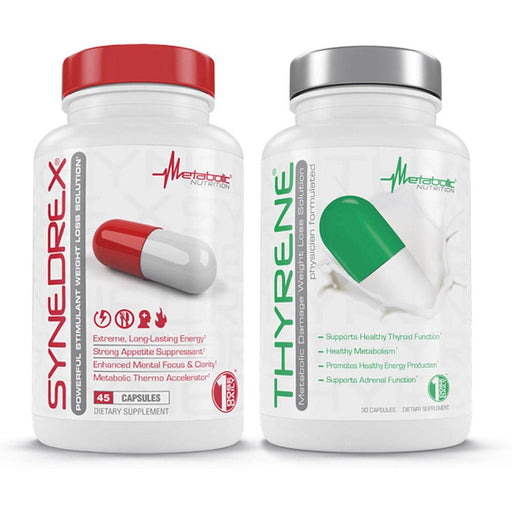 Metabolic Nutrition Sports Nutrition & More Metabolic Nutrition Synedrex & Thyrene Stack (751972745260)
