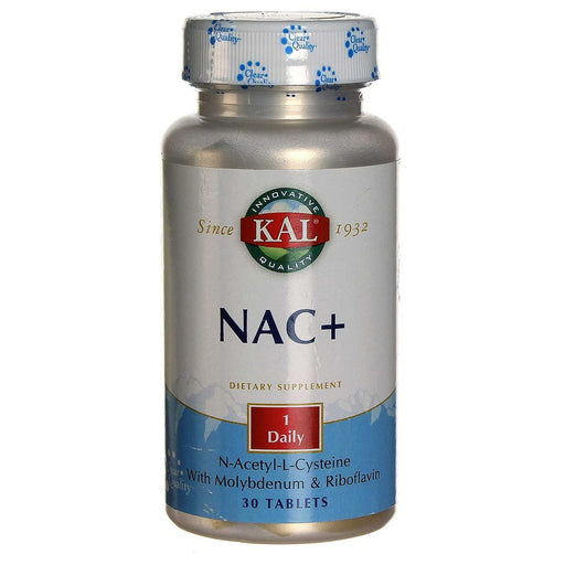 Kal Sports Nutrition & More Kal NAC+ (N-Acetyl Cysteine) 600mg 30 Tabs (580665540652)