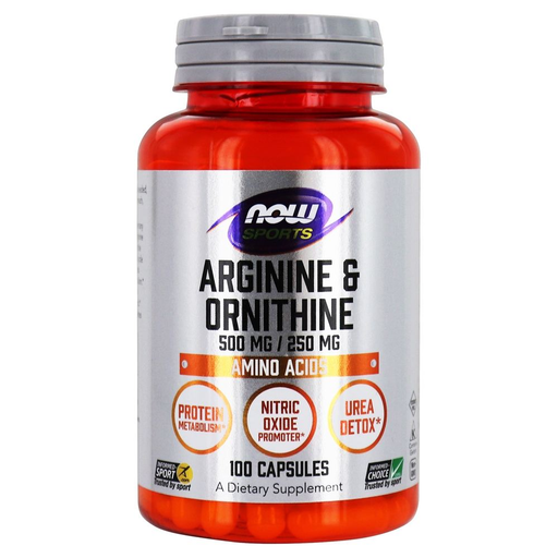 Now Foods Sports Nutrition & More Now Foods Arginine / Ornithine 100 Capsules