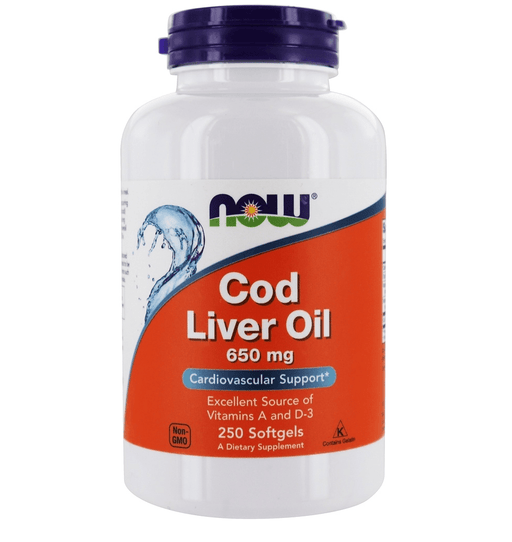 Now Foods Vitamins, Minerals, Herbs & More Now Foods Cod Liver Oil 650 Mg 250 Softgels
