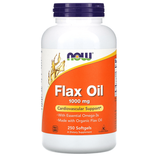 Now Foods Vitamins, Minerals, Herbs & More Now Foods Flax Oil Organic 1000 Mg 250 Softgels