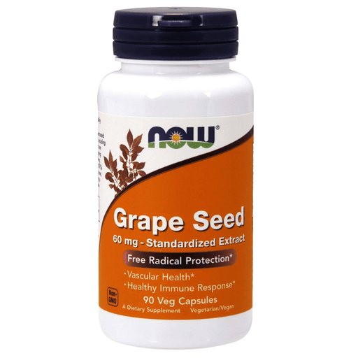 Now Foods Vitamins, Minerals, Herbs & More Now Foods Grape Seed 60mg 90 Vege Caps