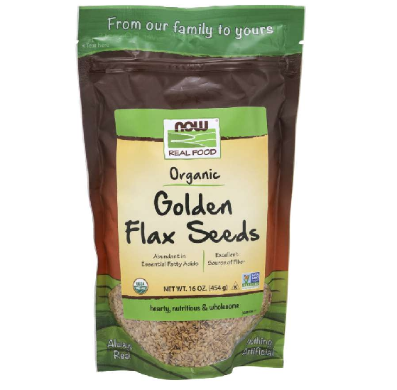 Now Foods Vitamins, Minerals, Herbs & More Now Foods Organic Golden Flax Seeds 16 oz