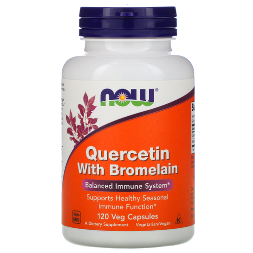 Now Foods Vitamins, Minerals, Herbs & More Now Foods Quercetin With Bromelain 120 Vegetable Capsules