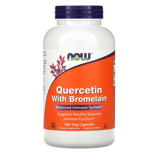Now Foods Vitamins, Minerals, Herbs & More Now Foods Quercetin W/Bromelain 240 Vegetable Capsules
