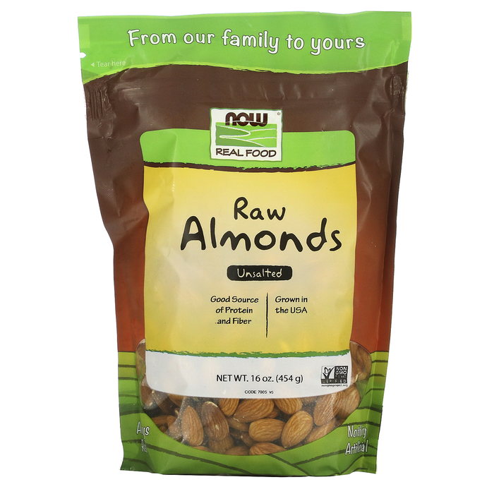 Now Foods Vitamins, Minerals, Herbs & More Now Foods Raw Almonds 1 Lb