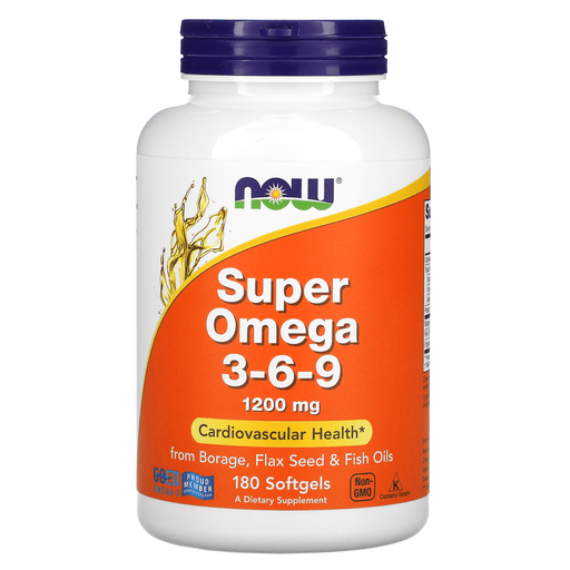 Now Foods Vitamins, Minerals, Herbs & More Now Foods Super Omega 3-6-9 1200 Mg 180 Softgels