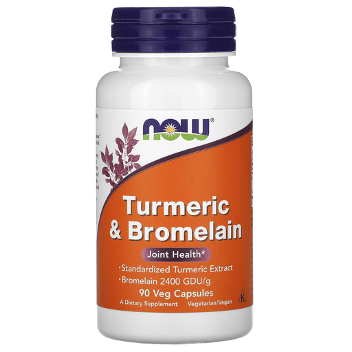 Now Foods Vitamins, Minerals, Herbs & More Now Foods Turmeric & Bromelain 90 Vegetable Capsules
