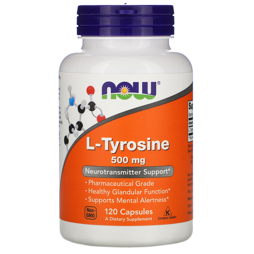 Now Foods Sports Nutrition & More Now Foods L-Tyrosine 500mg 120 Caps