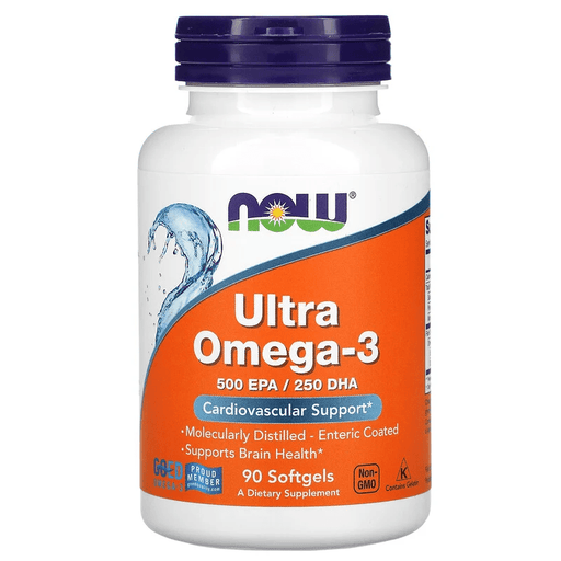 Now Foods Vitamins, Minerals, Herbs & More Now Foods Ultra Omega 3 Fish Oil 90 Softgels
