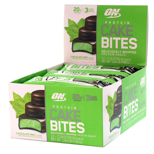 Optimum Nutrition Sports Nutrition & More Chocolate Mint Optimum Nutrition Protein Cake Bites 12/Box (582543867948)