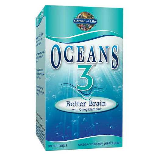 Garden of Life Sports Nutrition & More Garden of Life Oceans 3 Better Brain w/OmegaXanthin 90 Gels (580956586028)