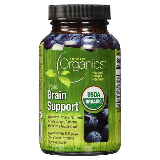 Irwin Naturals Sports Nutrition & More Irwin Naturals Organic Brain Support 60 Tabs (581168529452)
