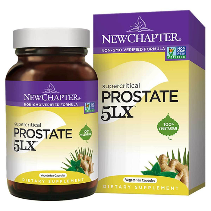 New Chapter Vitamins, Minerals, Herbs & More New Chapter Prostate 5LX 120 Soft Gels (581119639596)