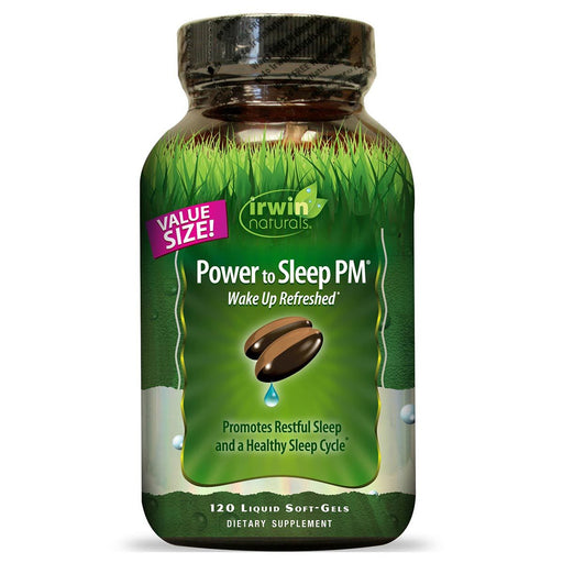 Irwin Naturals Vitamins, Minerals, Herbs & More Irwin Naturals Power to Sleep PM 120 Liquid Soft-Gels (581326864428)