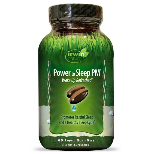 Irwin Naturals Vitamins, Minerals, Herbs & More Irwin Naturals Power to Sleep PM 6mg Melatonin 60 Gels (582472400940)