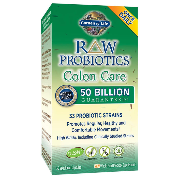 Garden of Life Vitamins, Minerals, Herbs & More Garden of Life Raw Probiotics Colon Care 30 Vege Caps (581582618668)