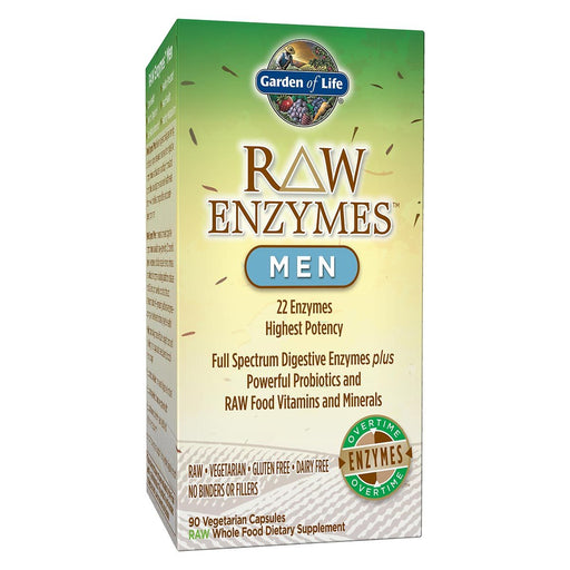 Garden of Life Vitamins, Minerals, Herbs & More Garden of Life Raw Enzymes Men 90 Vege Caps (581202575404)