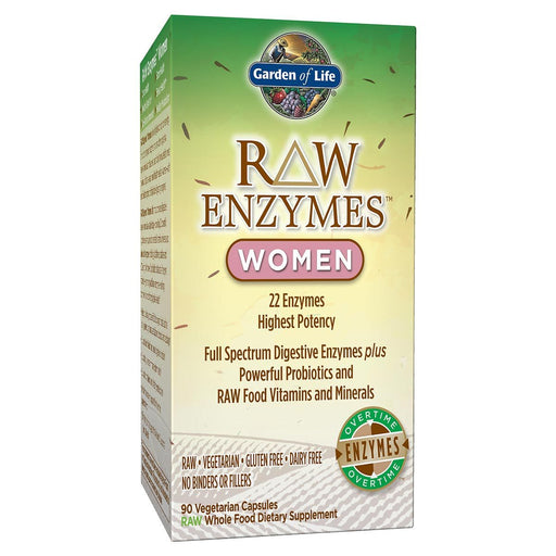 Garden of Life Vitamins, Minerals, Herbs & More Garden of Life Raw Enzymes Women 90 Vege Caps (581203197996)