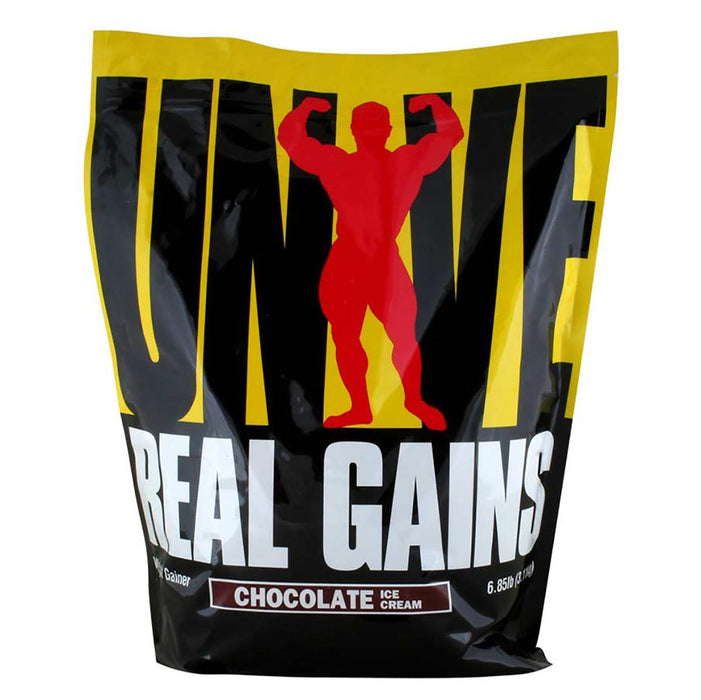 Universal Sports Nutrition & More Chocolate Ice Cream Universal Real Gains 6.85 Lbs (580731699244)