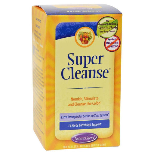 Nature's Secret Vitamins, Minerals, Herbs & More Nature's Secret Super Cleanse 100 Tabs (581243502636)