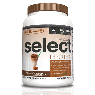 PEScience Protein Powders Caramel Macchiato PEScience Cafe Select Protein 20 Serving (582503890988)
