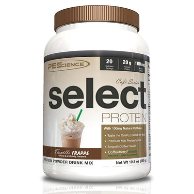 PEScience Protein Powders Vanilla Frappe PEScience Cafe Select Protein 20 Serving (582503890988)