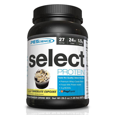 PEScience Protein Powders Frosted Chocolate Cupcake PEScience Select Protein 27 Servings (581928288300)