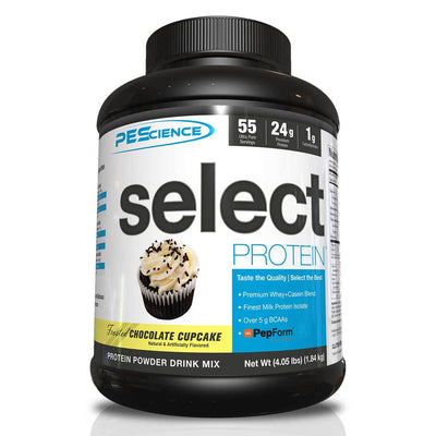 PEScience Protein Powders Frosted Chocolate Cupcake PEScience Select Protein 55 Servings (582086361132)
