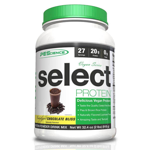 PEScience Protein Powders Indulgent Chocolate Bliss Select Vegan Protein 27 Servings (582503170092)