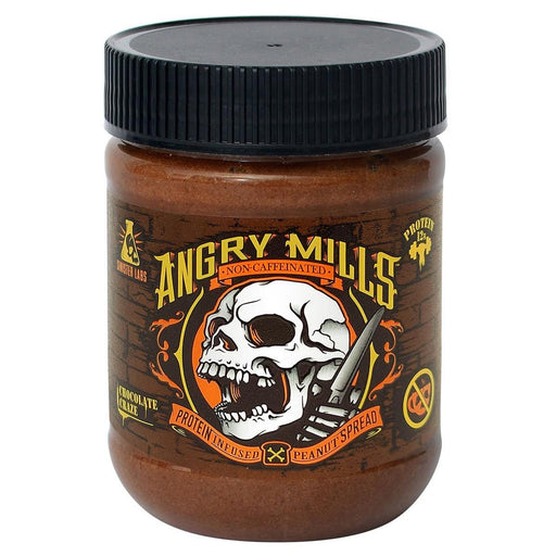 Sinister Labs Sports Nutrition & More Angry Mills Caffeine Free Protein Infused Peanut Butter Spread Chocolate Craze (582650724396)