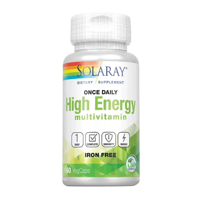 Solaray Vitamins, Minerals, Herbs & More Solaray Once Daily High Energy Multi-Vitamin Iron Free 60 Caps