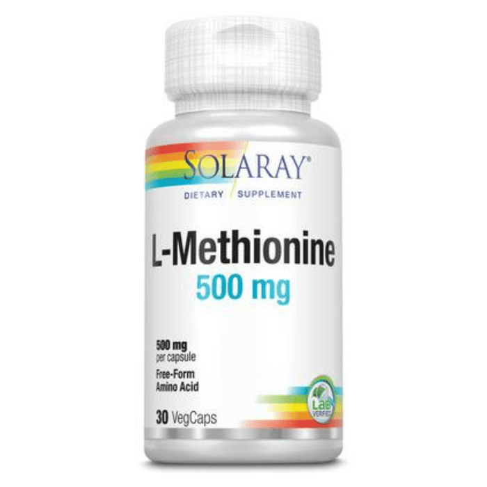 Solaray Sports Nutrition & More Solaray Free Form L-Methionine 500mg 30 Caps