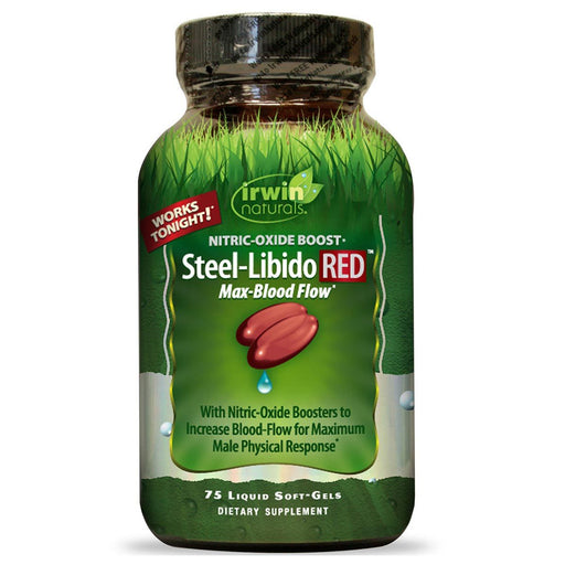 Irwin Naturals Sports Nutrition & More Irwin Naturals Steel Libido RED 75 Liquid Soft Gels (581321228332)