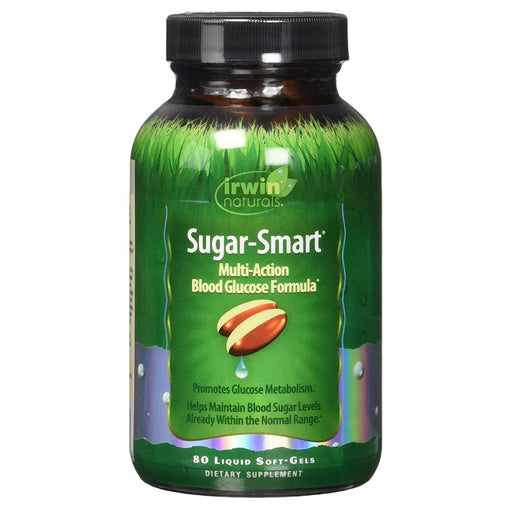 Irwin Naturals Sports Nutrition & More Irwin Naturals Sugar Smart 80 Liquid Soft Gels (581960695852)