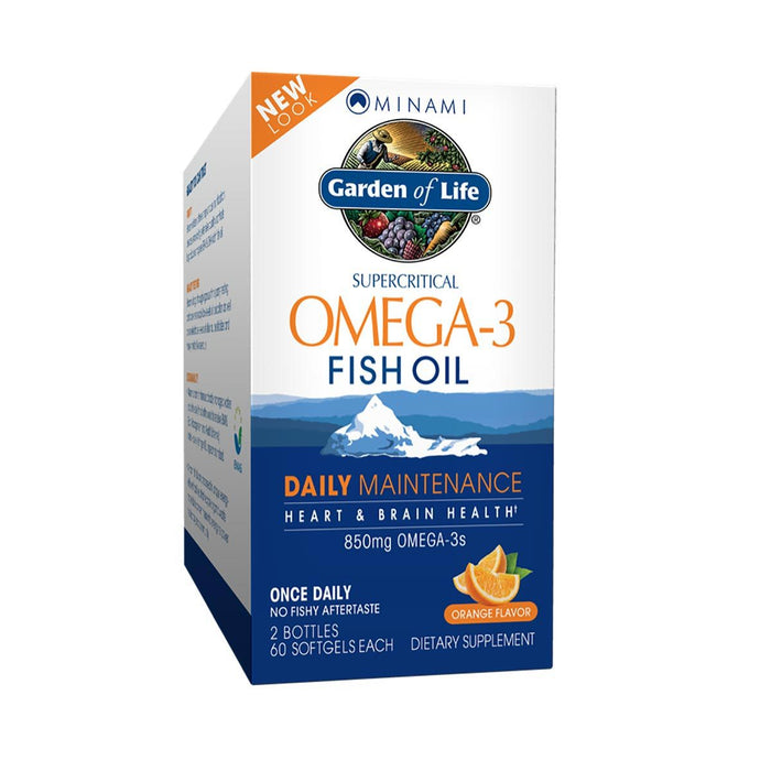 Minami Nutrition Vitamins, Minerals, Herbs & More Minami Nutrition Supercritical Omega-3 Fish Oil, Orange Flavor, 120 Softgels Each (581262049324)