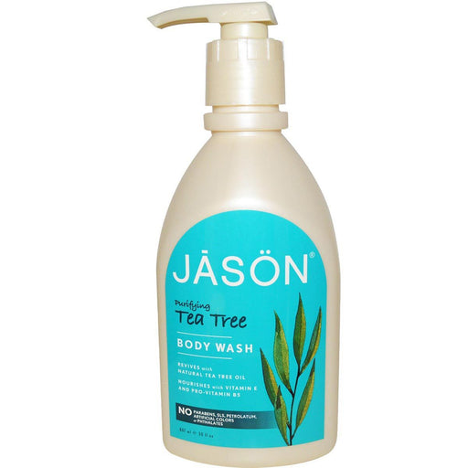 Jason Vitamins, Minerals, Herbs & More Jason Tea Tree Satin Body Wash 30 oz (580544790572)