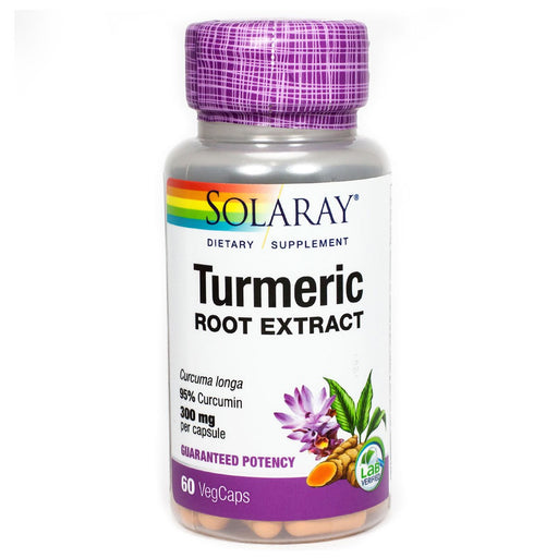 Solaray Vitamins, Minerals, Herbs & More Solaray Turmeric Root Extract 300mg 60 Caps (580640440364)