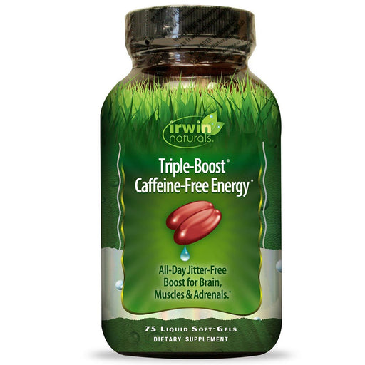 Irwin Naturals Sports Nutrition & More Irwin Naturals Triple-Boost Caffeine Free Energy 75 Liquid Soft Gels (580757979180)