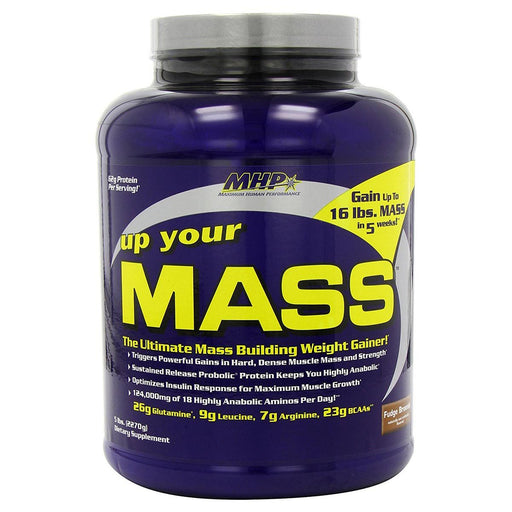 MHP Sports Nutrition & More Fudge Brownie MHP Up Your Mass 5 lbs (580704337964)