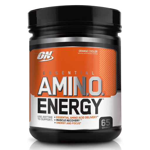Optimum Nutrition Sports Nutrition & More Orange Cooler Optimum Nutrition Amino Energy 65 Servings (581438144556)