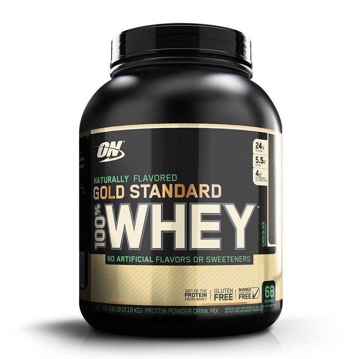 Optimum Nutrition Sports Nutrition & More Chocolate Optimum Nutrition 100% Natural Whey 4.8 Lbs (580581589036)